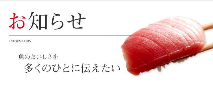 メディア情報 魚のおいしさを多くのひとに伝えたい